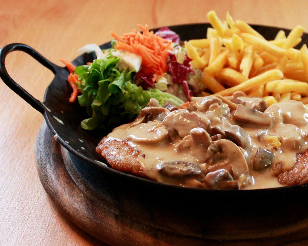 Schnitzel mit Champignons